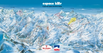 Espace Killy Piste Map